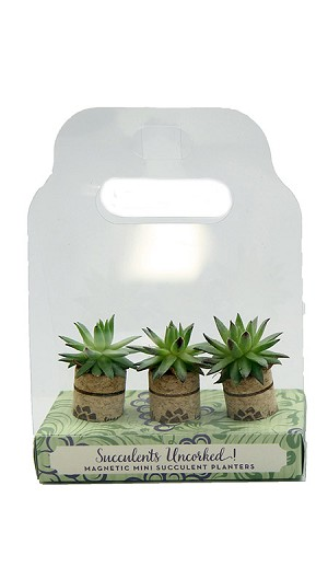 3-Pack Magnetic Wine Cork Succulent Planter (8 - 3 Packs)